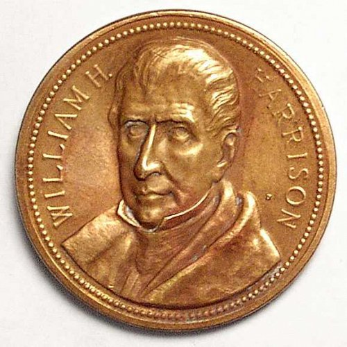 "WILLIAM H HARRISON presidential inaugural medal.3/4/1841 (1 5/8""),"