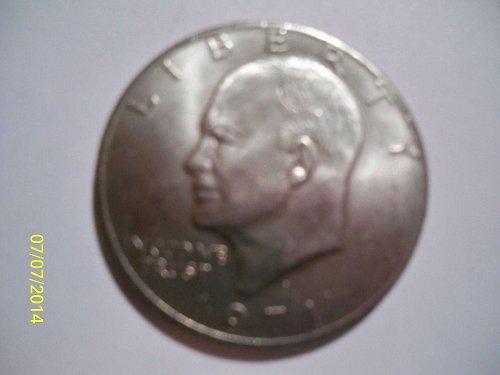 "1971 D Eisenhower  ""IKE"" Dollar * Nice Early AU Grade US Dollar Coin*."