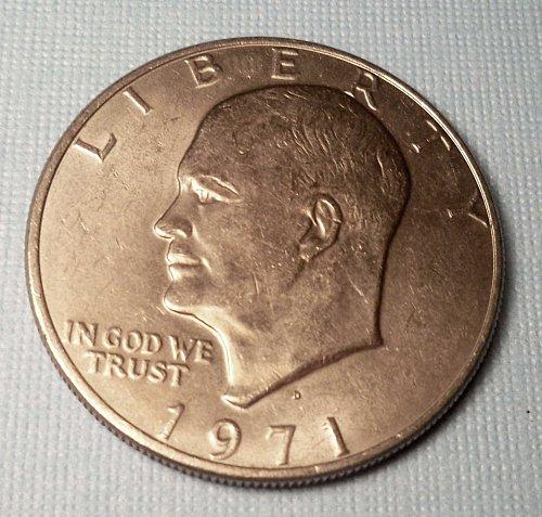 "1971 D-Eisenhower ""IKE"" Dollar *1st Year Eisenhower Dollar"