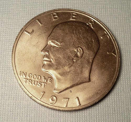 "1971 D-EISENHOWER ""IKE"" DOLLAR *1st Year Eisenhower Dollar"