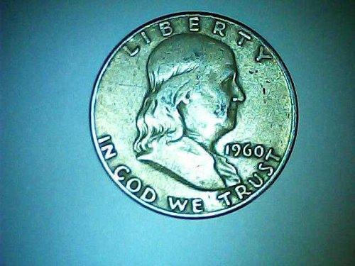 1960-D silver Franklin half dollar
