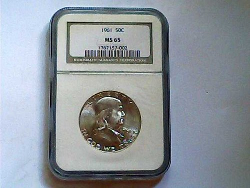 1961 Franklin silver half dollar in MS 65!!