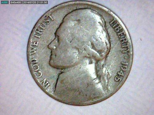 1945-P Jefferson War Nickel..35% Silver