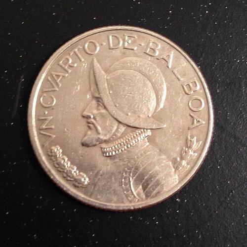 1983 Panama 1/4 Balboa Coin