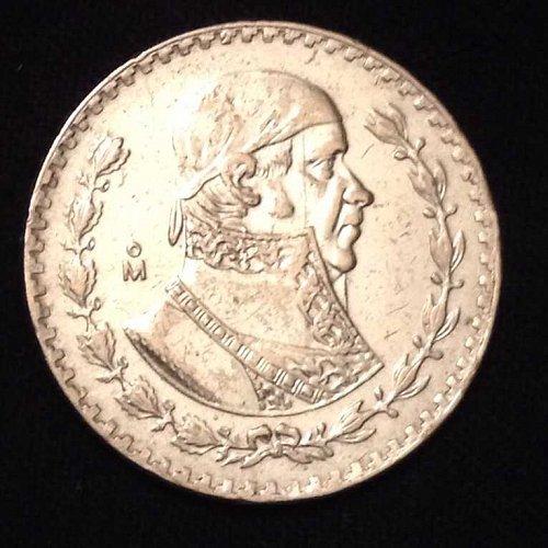 1960 Un Peso Mexico Coin