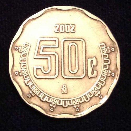 2002 50 Centavos Coin