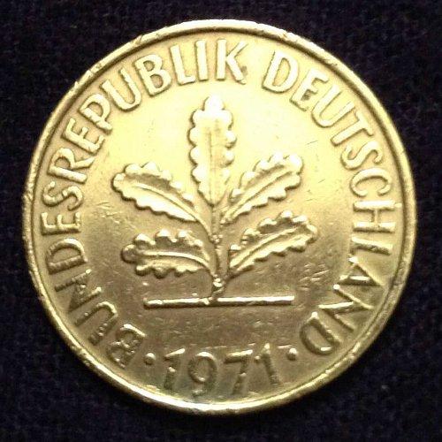 1971 10 pfennig D Germany Coin