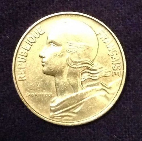 1967 10 centimes France Coin