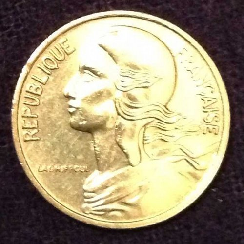 1980 5 centimes France Coin