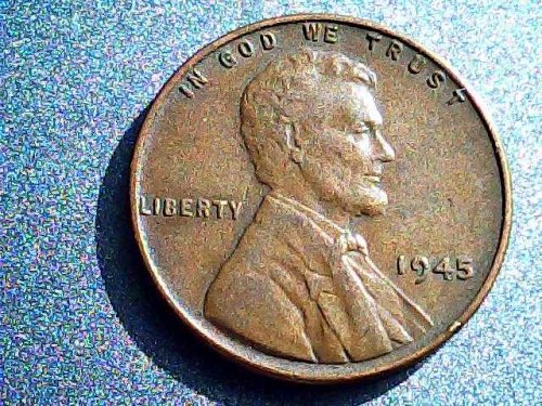 Lincoln Wheat cent 1945