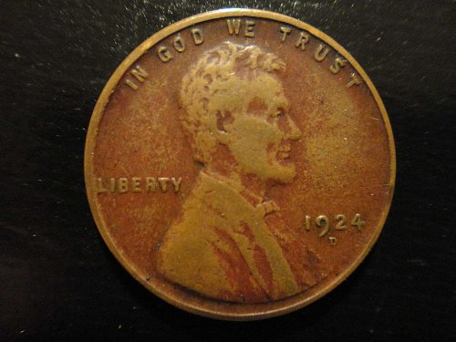1924-D Lincoln Cent Very Fine-25 Nice Chocolate Brown!