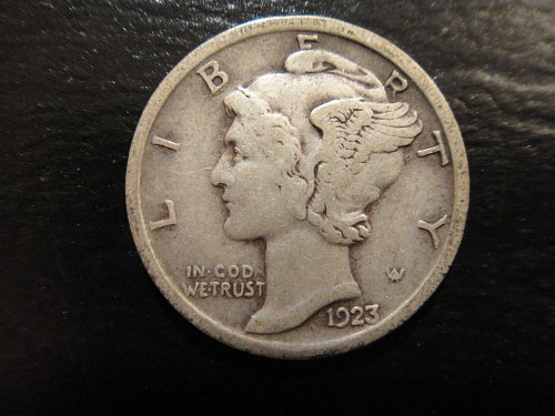 1923 Mercury Dime Very Fine-20 Strong Detail For Grade Great Original Patina!