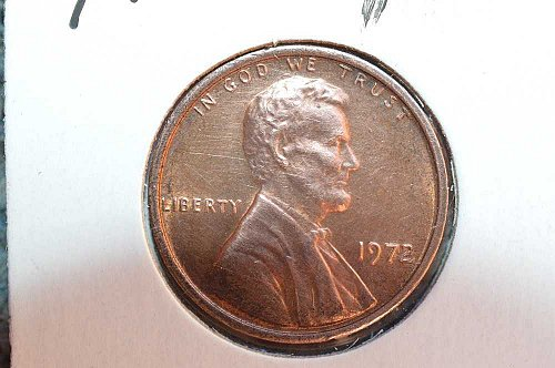 1972 P Lincoln Memorial Cent Small Cents: Doubled Die Obverse