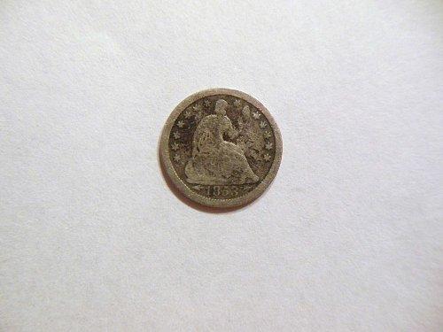 1853-O F/VF Silver Half Dime