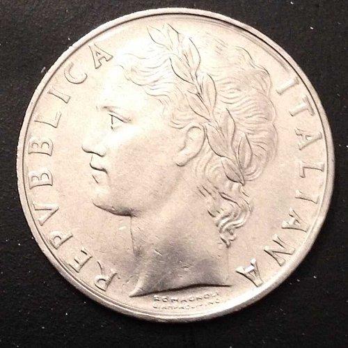 1975 L.100 R Italian coin