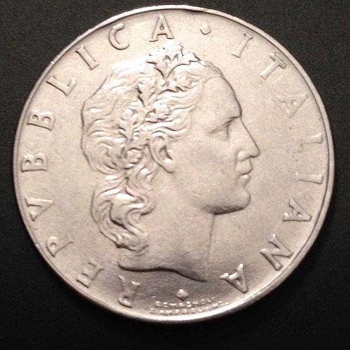 1963 50 Lire R Italian Coin