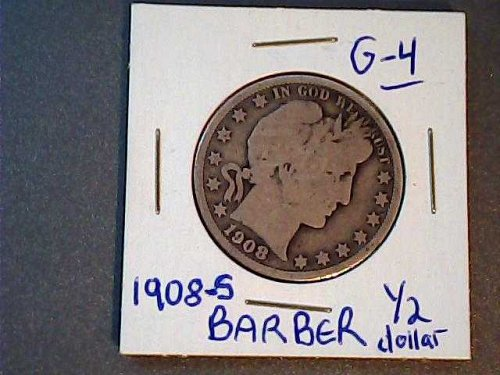 Barber 1908 s Half Dollar