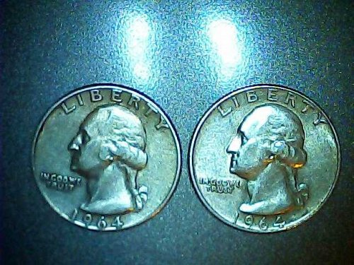 Lot of 2- 1964 p-Washington Quarters