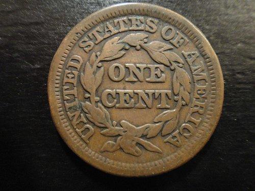 1847 Braided Hair Large Cent Fine-12 Nice Light Chocolate Brown