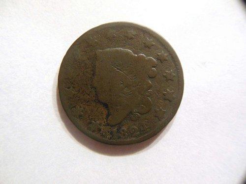 Vintage 1824 Coronet Head Large Cent