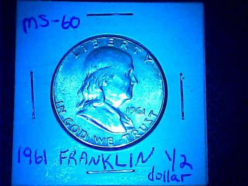 1961 Franklin 1/2 dollar
