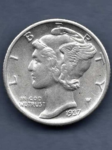 1937 Silver Mercury Head Dime US Coin