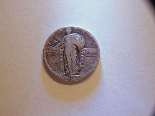 1927-D Silver Standing Liberty Quarter