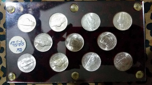 US wartime silver nickles 1942-1945