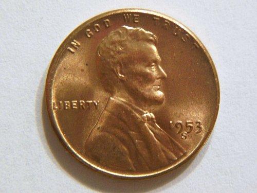 1953-S BU Lincoln Wheat Cent