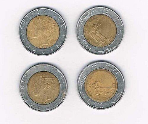 1985 500 Lire Italian coin