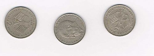 1969 F 2 Duetsche Mark Germany coin