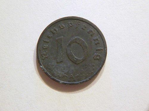Germany WW ll 1942-A 10 Reichspfennig Coin