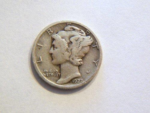 1927-P Silver Mercury Dime