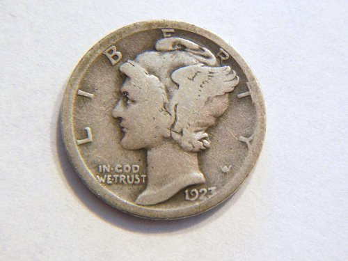 1923-S Silver Mercury Dime