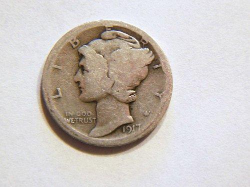 1917-P Silver Mercury Dime