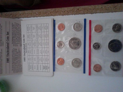 1985 Uncirculated Mint Proof Set (With P&D Marks)