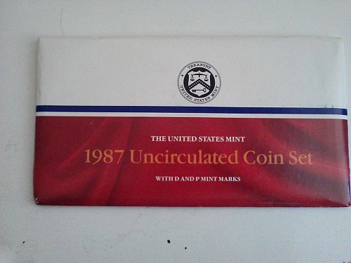 1987 Uncirculated Mint Proof Set (With P&D Marks)