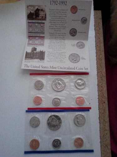 1992 Uncirculated Mint Proof Set (With P&D Marks)