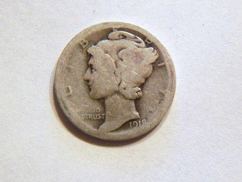 1918-D Silver Mercury Dime