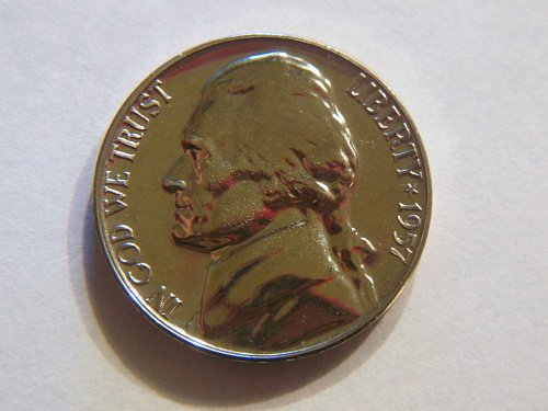 1957-P *Super Luster Proof* Jefferson Nickel