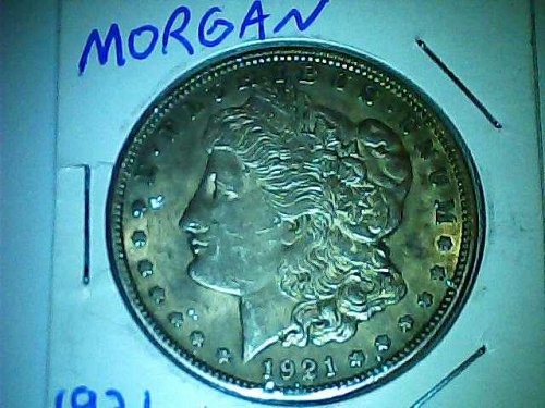 1921 Morgan dollar AU