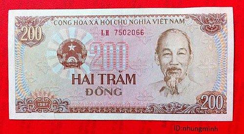 Vietnam Dong 200 Dong 1987 Vietnam banknote paper