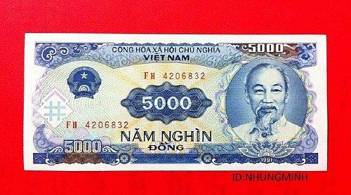 5000 viet nam dong-banknote new -FIVE THOUSANG VIETNAM BANKNOTE