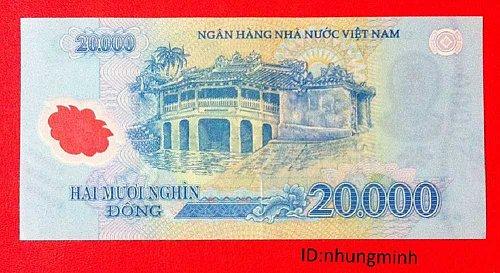 VIET NAM DONG-20000 DONG-TWENTY THOUSAND  VIETNAM BANKNOTE POLYMER