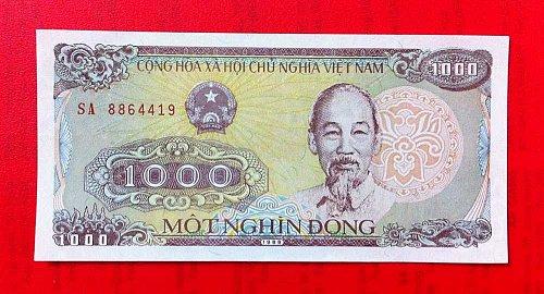 1000 DONG-MOT NGHIN DONG Vietnam banknote