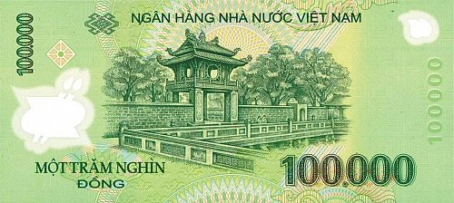 100000 DONG-one hundred thousand-Vietnam banknote POLYMER NEW 100%