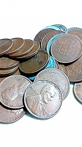 6-1943 S,D and P Steel Cents. 25- 1929-1955 all S Wheat Cents Small Cents