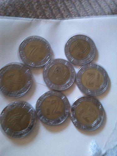 $ 2 coins mexican
