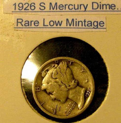 choice Mercury SILVER dime RARE Low Mintage,