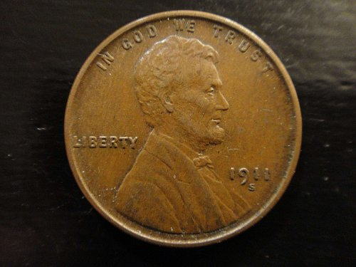 1911-S (Semi Key Date) Lincoln Cent AU-55 Gorgeous Milk Chocolate Brown!